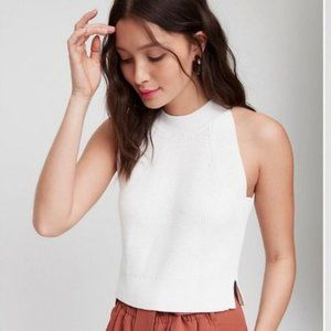 Aritzia Wilfred Crevier Cropped Knit Tank Top